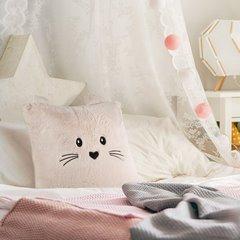 Poszewka na poduszkę 45 x 45 cm zwierzątko z uszkami różowa - 45x45 - różowy 4
