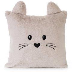 Poszewka na poduszkę 45 x 45 cm zwierzątko z uszkami różowa - 45x45 - różowy 1