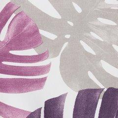 Zasłona liście monstery fiolet i róż 140x250 na przelotkach - 140x250 - Biały / Fioletowy 3