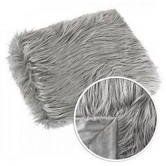 Narzuta o strukturze futra popielata 150x200 cm - 150x200 - srebrny 7