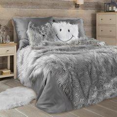 Narzuta o strukturze futra popielata 150x200 cm - 150x200 - srebrny 2