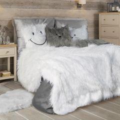Narzuta o strukturze futra biała 150x200 cm - 150 x 200 cm - biały 1