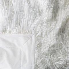 Narzuta o strukturze futra biała 150x200 cm - 150 x 200 cm - biały 5