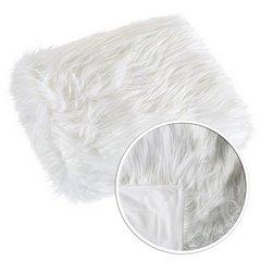 Narzuta o strukturze futra biała 150x200 cm - 150 x 200 cm - biały 6