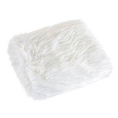 Narzuta o strukturze futra biała 150x200 cm - 150 x 200 cm - biały 2