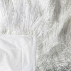Narzuta o strukturze futra biała 150x200 cm - 150 x 200 cm - biały 3