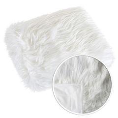 Narzuta o strukturze futra biała 150x200 cm - 150 x 200 cm - biały 4