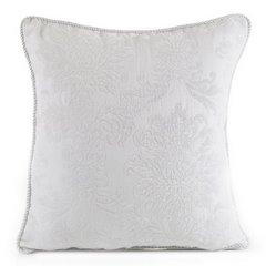 Poszewka dekoracyjna na poduszkę 45 x 45 kolor biały - 45 X 45 cm - biały 1