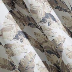 Zasłona egzotyczne liście bananowca mikrofibra przelotki 140x250cm - 140 X 250 cm - beżowy/brązowy 3