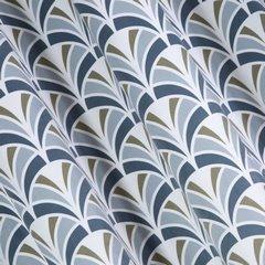 Zasłona welwetowa z motywem łuski przelotki 140x250 cm - 140 X 250 cm - jasnosrebrny/stalowy 2