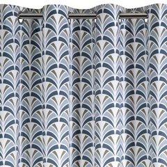 Zasłona welwetowa z motywem łuski przelotki 140x250 cm - 140 X 250 cm - jasnosrebrny/stalowy 3