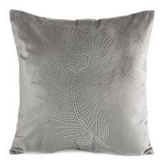 Poszewka na poduszkę 40 x 40 cm szara pióro  - 40x40 - szary 1