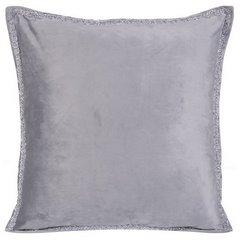 Elegancka poszewka na poduszkę srebrna ze srebrnym wykończeniem 40 x 40 cm  - 40 X 40 cm - popielaty 3