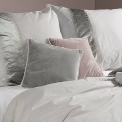 Poszewka na poduszkę 40 x 40 cm grafitowo biała  - 38 X 38 X 8 cm - grafitowy 6