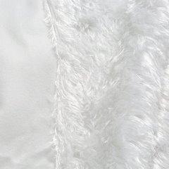 Futerkowy miękki koc biały z długim włosiem 150x200 - 150 X 200 cm - biały 4
