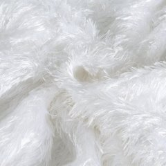 Futerkowy miękki koc biały z długim włosiem 150x200 - 150 X 200 cm - biały 6