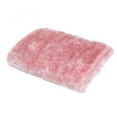 Futerkowy miękki koc pudrowy różowy z długim włosiem 150x200 - 150 X 200 cm - różowy 3