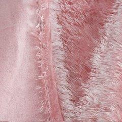 Futerkowy miękki koc pudrowy różowy z długim włosiem 150x200 - 150 X 200 cm - różowy 4