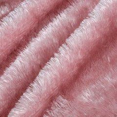Futerkowy miękki koc PUDROWY RÓŻOWY z długim włosiem 150x200 - 150x200 - różowy 5