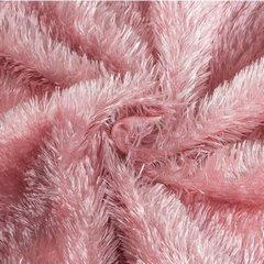 Futerkowy miękki koc pudrowy różowy z długim włosiem 150x200 - 150 X 200 cm - różowy 6