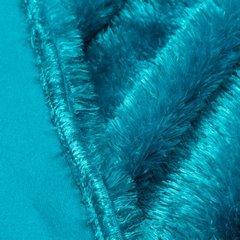 Futerkowy miękki koc turkusowy z długim włosiem 150x200 - 150 X 200 cm - turkusowy 4