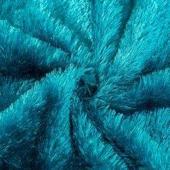 Futerkowy miękki koc turkusowy z długim włosiem 150x200 - 150 X 200 cm - turkusowy 6