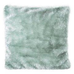 Poszewka na poduszkę futerko miętowa 40 x 40 cm  - 40 X 40 cm - miętowy 1