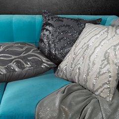 Poszewka dekoracyjna zdobiona cekinami srebrna 45 x 45cm - 45x45 - kremowy 2