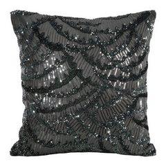 Poszewka na poduszkę 45 x 45 cm lśniąca stalowa  - 45 X 45 cm - stalowy 1