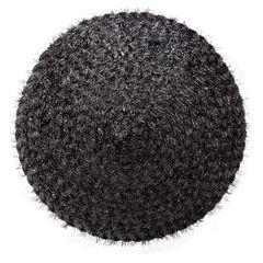 Włochata podkładka stołowa czarna okrągła średnica 38 cm - ∅ 38 cm - czarny 1