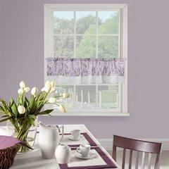 Firana zazdrostka 30 x 150 cm biało fioletowa wrzosy  - 150 X 30 cm - fioletowy/biały 1