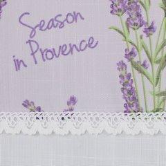 Firana zazdrostka 30 x 150 cm biało fioletowa wrzosy  - 150 X 30 cm - fioletowy/biały 3