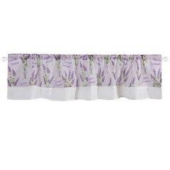 Firana zazdrostka 30 x 150 cm biało fioletowa wrzosy  - 150 X 30 cm - fioletowy/biały 4