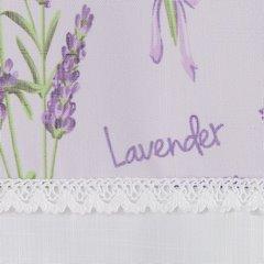 Firana zazdrostka 60 x 150 cm biało fioletowa wrzosy  - 150 X 60 cm - fioletowy/biały 3