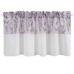 Firana zazdrostka 60 x 150 cm biało fioletowa wrzosy  - 150 X 60 cm - fioletowy/biały 4