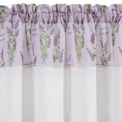 Firana zazdrostka 60 x 150 cm biało fioletowa wrzosy  - 150 X 60 cm - fioletowy/biały 5