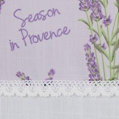 Firana Zazdrostka 90 x 150 cm biało fioletowa wrzosy  - 90x150 - biały / fioletowy 2