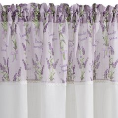 Firana Zazdrostka 90 x 150 cm biało fioletowa wrzosy  - 90x150 - biały / fioletowy 4