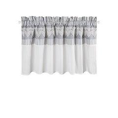 Firana zazdrostka 60 x 150 cm szaro biała z piękną koronką  - 60 X 150 cm - biały/szary 4