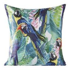 Poszewka na poduszkę 40 x 40 cm papugi  - 40x40 - zielony / niebieski 1