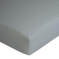 Prześcieradło bawełniane gładkie 140x200+25cm 140 kolor srebrny - 140 X 200 cm, wys.25 cm - jasnoszary 7