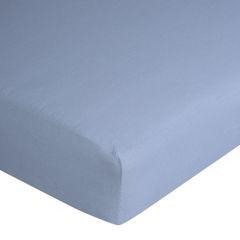 Prześcieradło bawełniane gładkie 140x200+25cm 140 kolor niebieski - 140x200+25 - niebieski 10