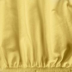 Żółte PRZEŚCIERADŁO BAWEŁNIANE  z jerseyu z gumką 140x200 cm - 140 X 200 cm, wys.25 cm - żółty 8