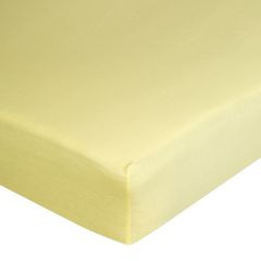 Żółte PRZEŚCIERADŁO BAWEŁNIANE  z jerseyu z gumką 140x200 cm - 140 X 200 cm, wys.25 cm - żółty 10