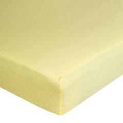 Żółte PRZEŚCIERADŁO BAWEŁNIANE  z jerseyu z gumką 140x200 cm - 140 X 200 cm, wys.25 cm - żółty 7