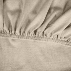 Prześcieradło bawełniane gładkie 90x200+25cm 140 kolor beżowy - 90 x 200 cm, wys.25 cm - beżowy 10