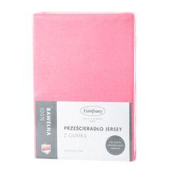 Prześcieradło bawełniane gładkie 90x200+25cm 140 kolor różowy - 90 X 200 cm, wys.25 cm - różowy 3