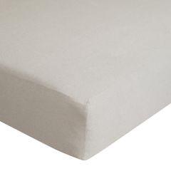 Prześcieradło bawełniane gładkie 90x200+25cm 140 kolor srebrny - 90 X 200 cm, wys.25 cm - jasnoszary 7
