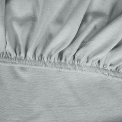 Prześcieradło bawełniane gładkie 90x200+25cm 140 kolor srebrny - 90 X 200 cm, wys.25 cm - jasnoszary 6