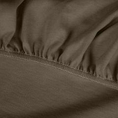 Prześcieradło bawełniane gładkie 120x200+25cm 140 kolor brązowy - 120 X 200 cm, wys.25 cm - brązowy 10